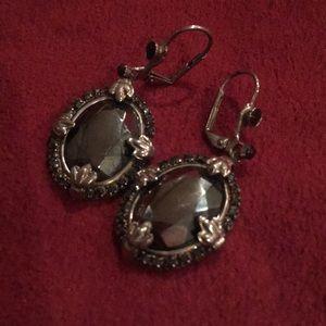 Vintage Sorrelli Black Jewel Earrings